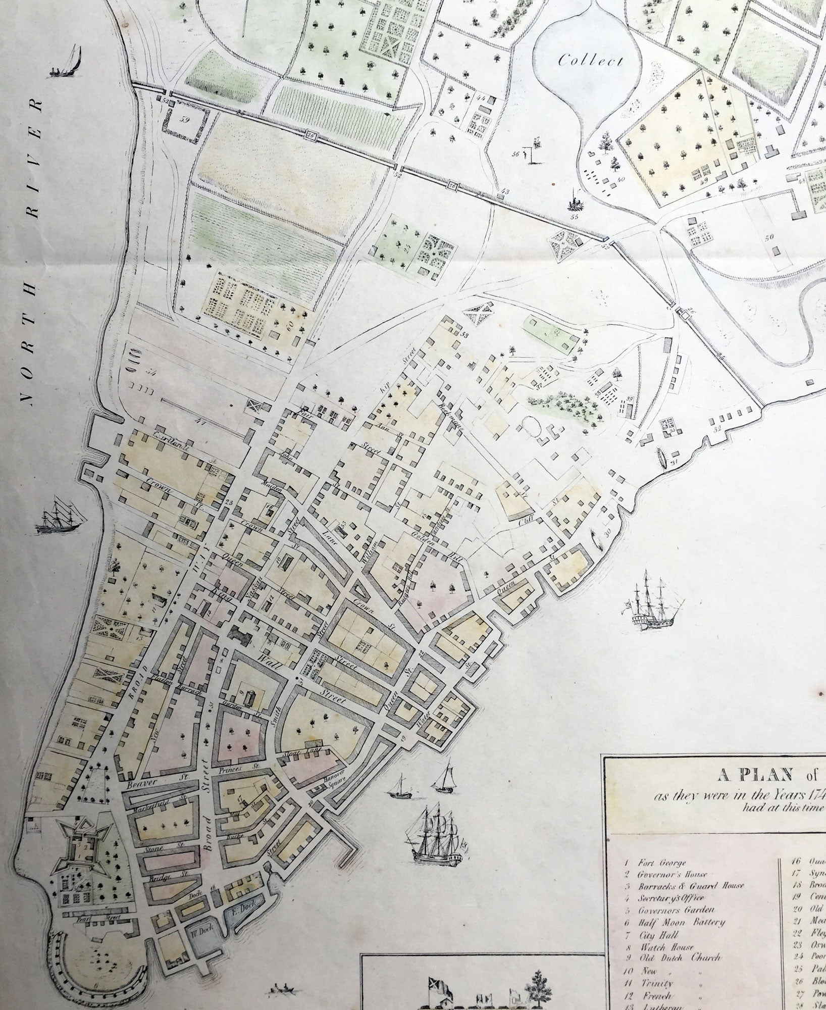 1854 1813 Valentine Grimm Large Old Antique Map Of New York City