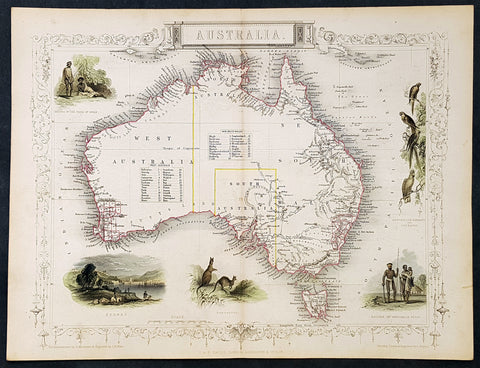 1851 Tallis Antique Maps of Australia and 5 x States