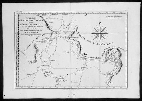 1788 Cook Raynal Antique Map of Alaska & The NW Passage