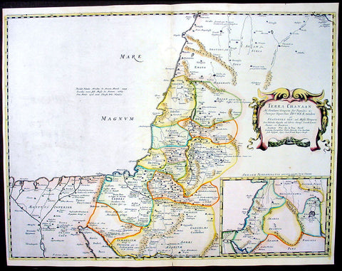 1650 Nicolas Sanson Antique Map of The Holy Lands, Canaan