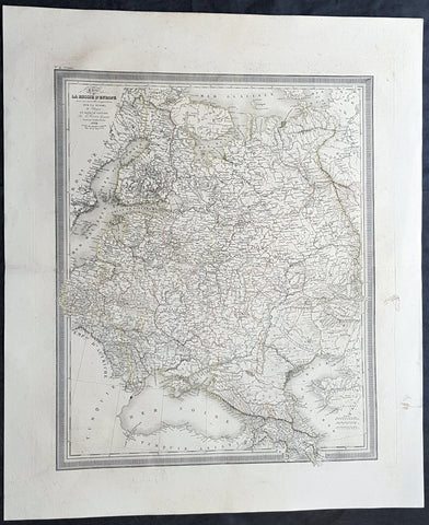1824 Louis Vivien Large Antique Map of Russia in Europe