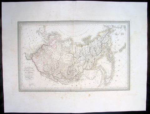 1825 Louis Vivien Large Antique Map of Siberia or Russia in Asia