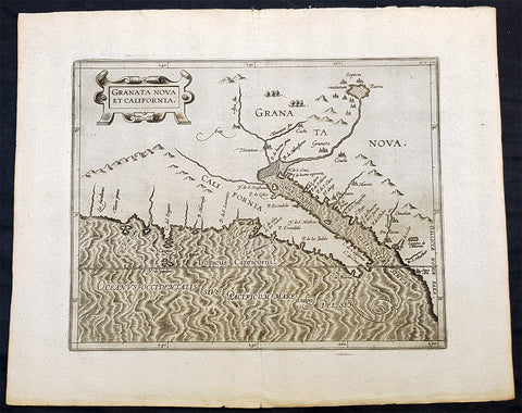 1597 Cornelis Wytfliet Antique Map Early Important Map of California & SW America