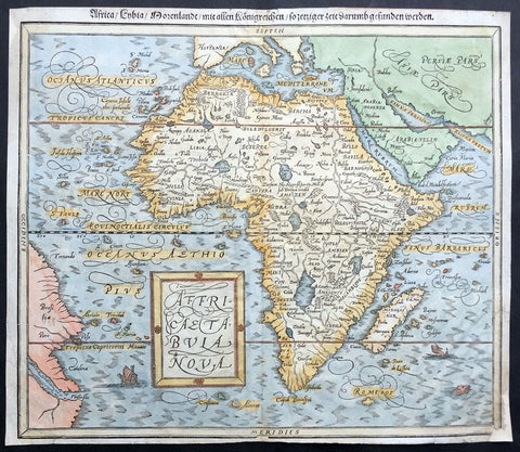1588 Munster Antique Map of Africa