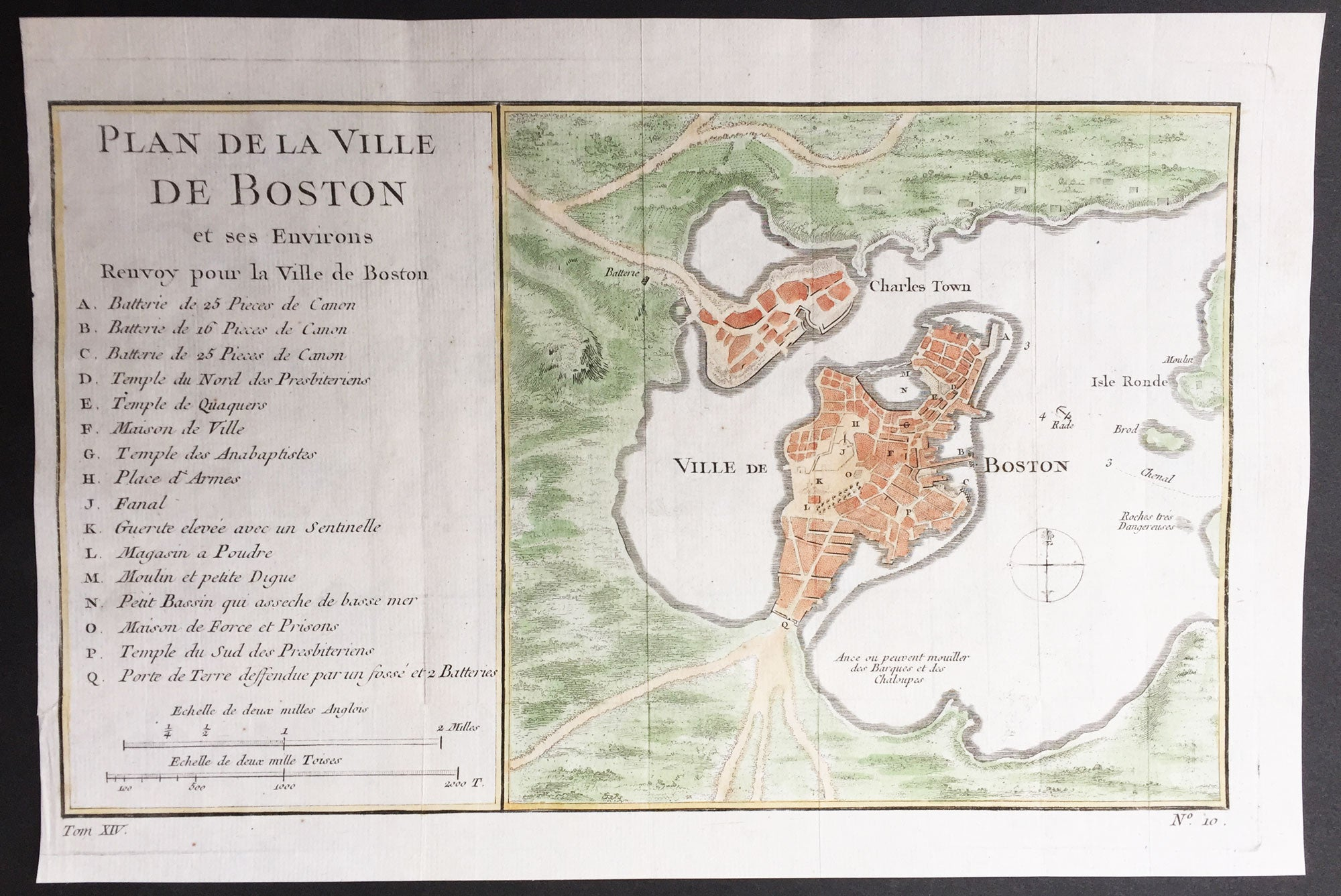Bellin Antique Map Plan Of The City Of Boston Charlestown - Antique boston map