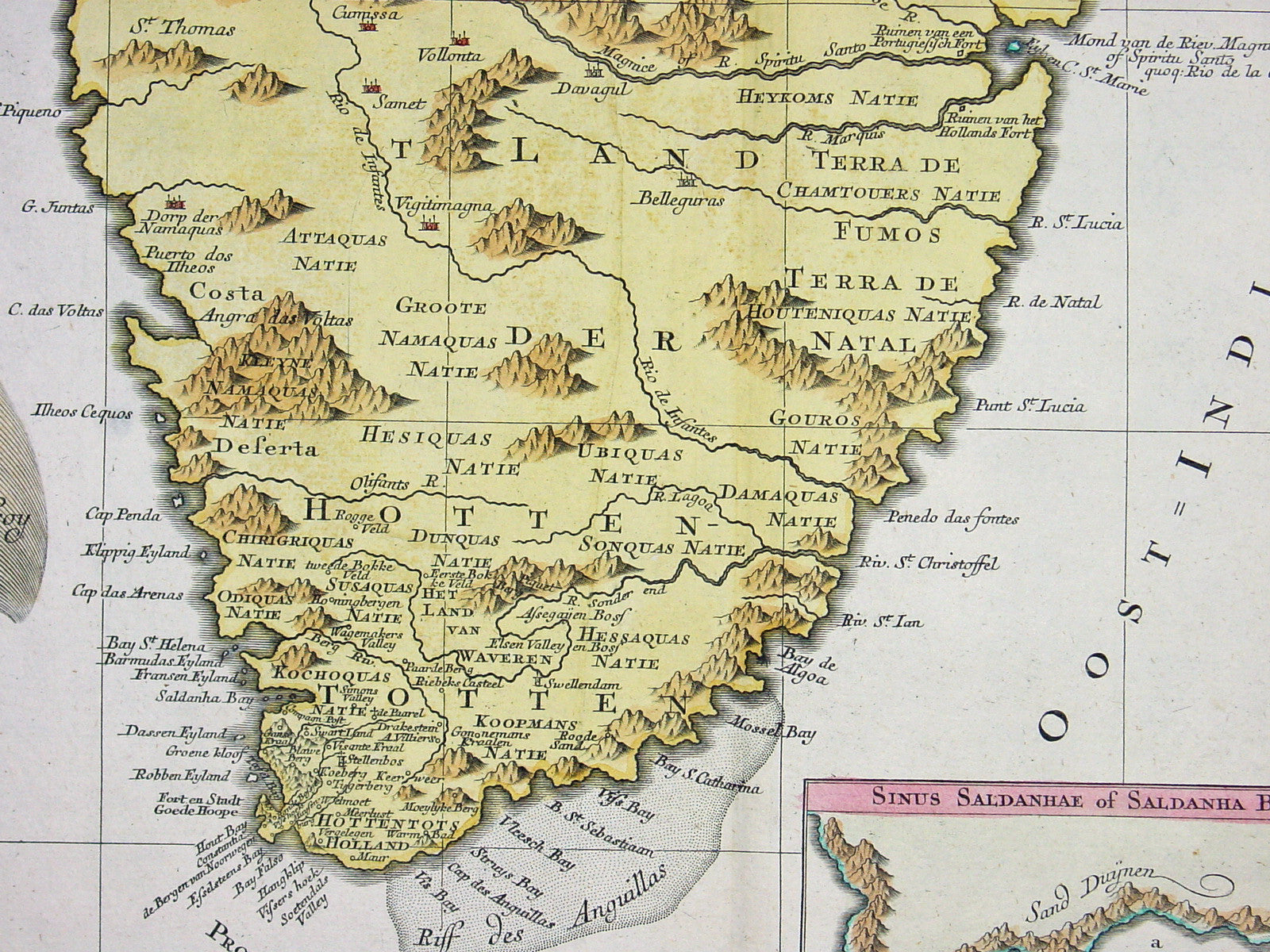 1760 Lotter Large Antique Map of Southern Africa Classical Images