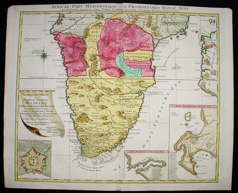 1760 Lotter Large Antique Map of Southern Africa