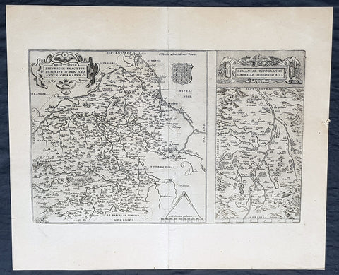 1612 Abraham Ortelius Antique Maps of Loire Valley, River & Alliers River France