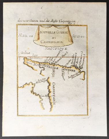 1683 Mallet Antique Map of Australia Cape York Peninsula Gulf of Carpenteria PNG