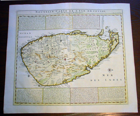 1719 Chatelian Antique Map of Ceylon Sril Lanka