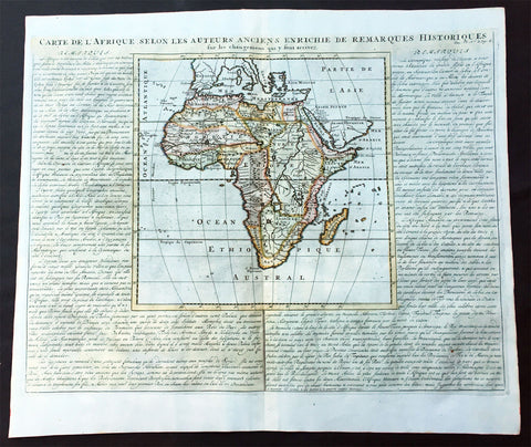 1719 Chatelain Large Old, Antique Map of Africa