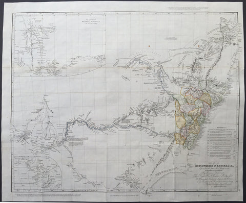 1832 John Arrowsmith Antique Map of Australia