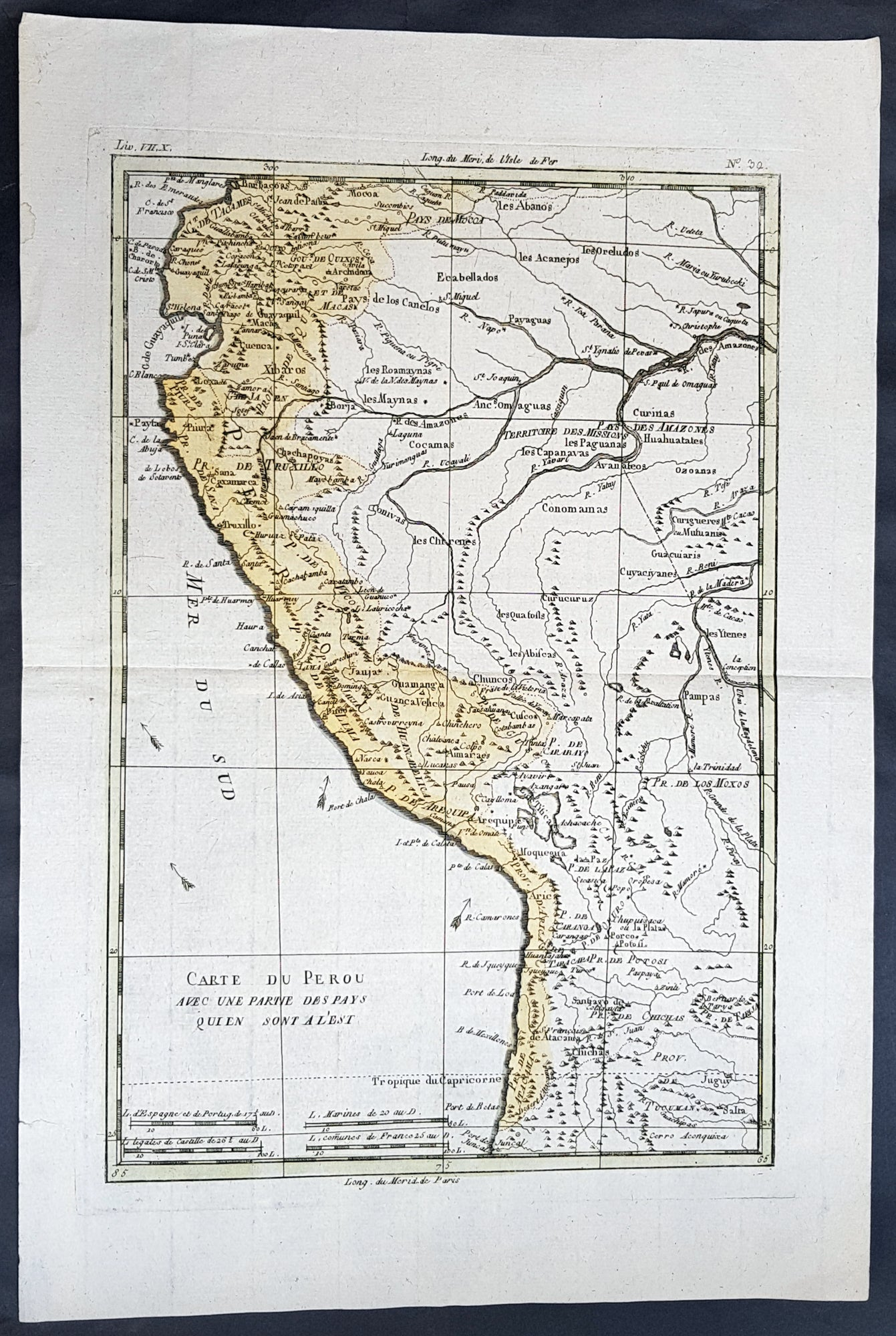 Amazon River In South America Map.1780 Rigobert Bonne Antique Map Of Peru The Amazon River South