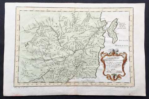 1760 Bellin Antique Map of Manchurian Empire, Mongolia, China, Sakhalin Islands