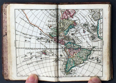 1760 Tobias Lotter Antique Atlas with 33 Maps - World, Continents & Provincial Maps