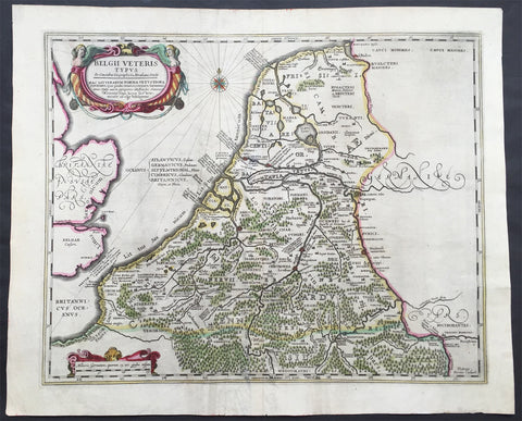 1638 Jansson Large Antique Map of The Netherlands & Belgium