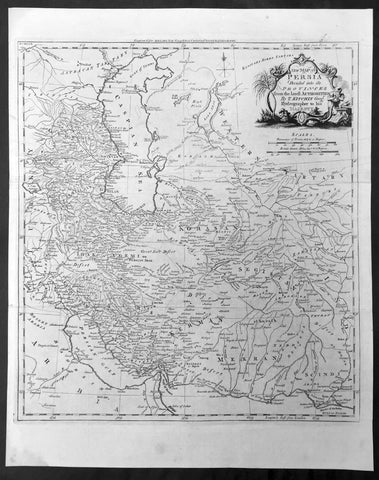 1782 Kitchin Large Antique Map Persian Empire - Iran - Caspian to Persian Gulf