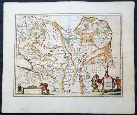 1652 Jan Jansson Antique Map of East & Central Asia, China to Russia - Tartary