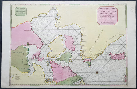 1695 Pierre Mortier Large Antique Hudsons Bay Company Map of Canada
