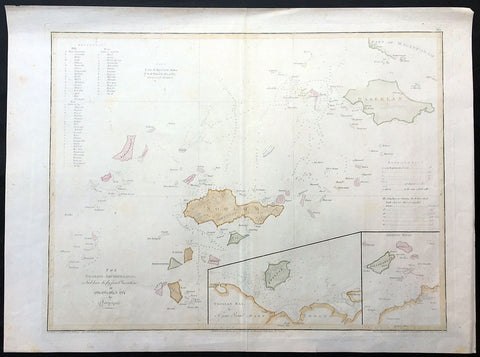 1771 Dalrymple Large Antique Map Philippines, Mindanao Sulu Arc Basilan Boobooan