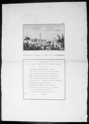 1802 J B Lechevalier Antique Print Temple Apollo Ruins Gülpınar Çanakkale Turkey
