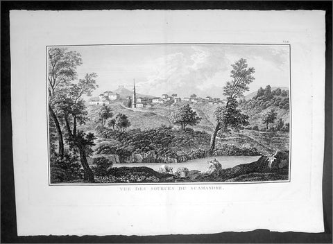 1802 Lechevalier Large Antique Print View of Xanthos or Kinik, Antalya Turkey