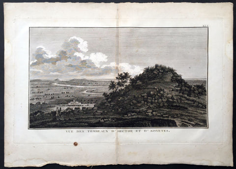 1802 Lechevalier Antique Print View of The Tomb of Hector, Karamenders Turkey