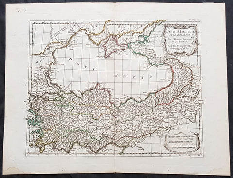 1740 D Anville Antique Map of Bosporus, Black Sea, Turkey & Central Asia