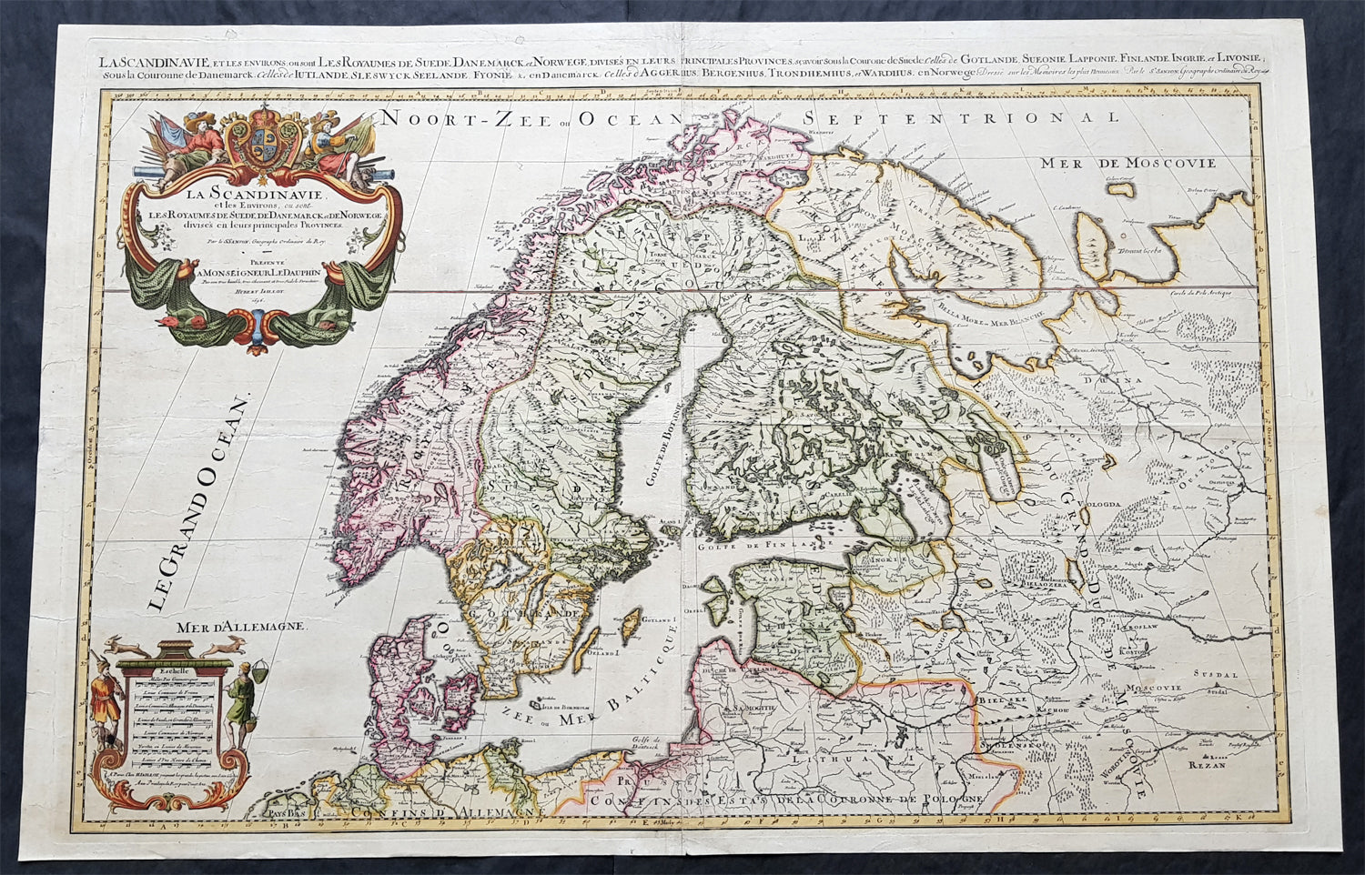 Picture of: 1696 Jaillot Large Antique Map Norway Sweden Finland Denmark Latvia Classical Images