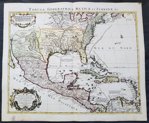 1722 G. Delisle and Covens & Mortier Antique Map of North America - 5th State