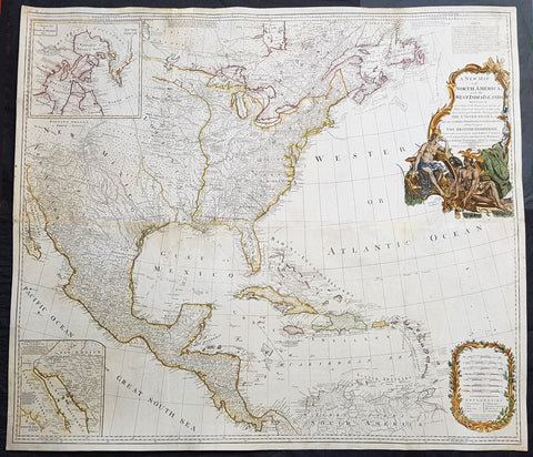 1794 Thomas Pownall & Kitchin Large Post Revolutionary War Map of North America