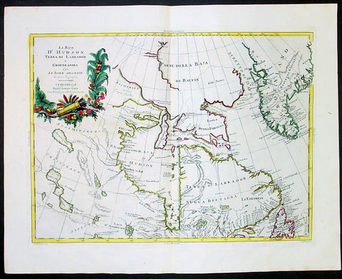 1778 Zatta Antique Map of Canada