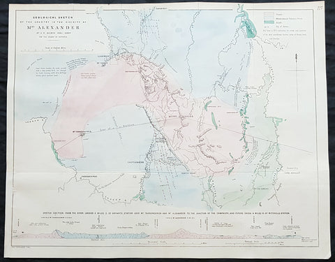 1854 Arrowsmith & Selwyn Rare Antique Goldfields Map Mt Alexander & Castlemaine, Victoria