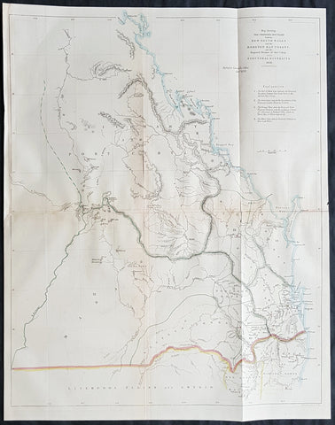 1858 John Arrowsmith Rare, Important Map of Queensland & NSW, Moreton Bay Colony