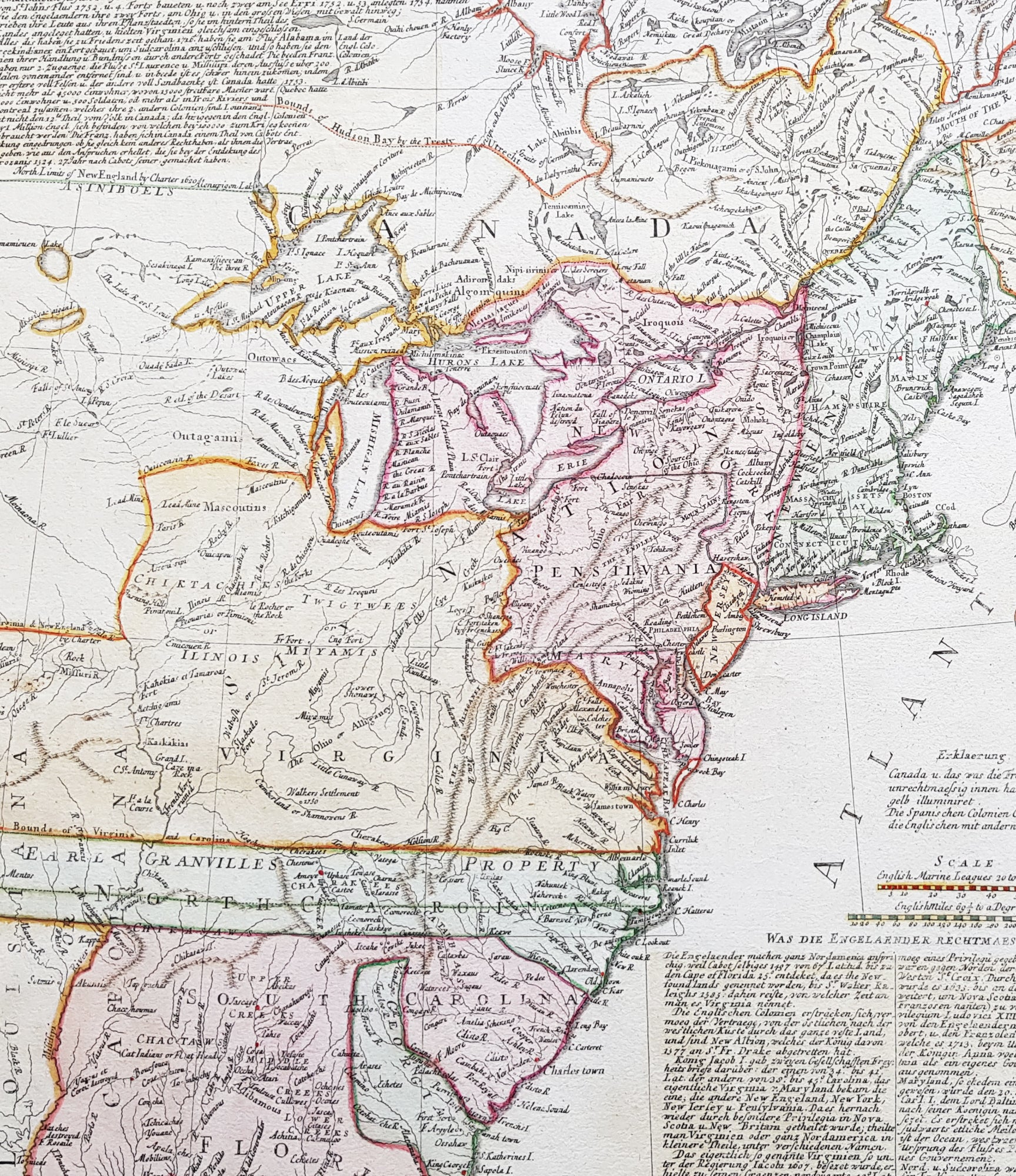 1756 Homann 1st Ed Antique Map of United States of America - French on state time, state puzzle, state of alabama, state initials, state populations in order, state population density, state parks in north alabama, state of obesity, state function, state flag, state capitals, state list, state newspaper, state climate, state of south dakota website, state names, state topography, state of louisiana, state of al counties, state city,