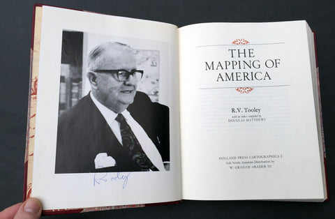 1980 R V Tooley The Mapping of America 1st Edition, Signed