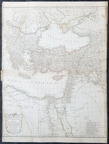 1764 D Anville Large Antique Map Byzantine, Eastern Roman Empire Europe to Egypt