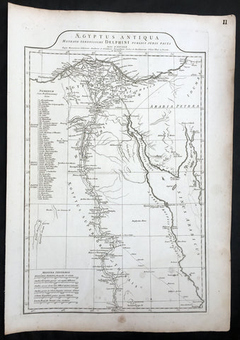1756 J B D Anville Large Antique Map of Egypt & The Red Sea
