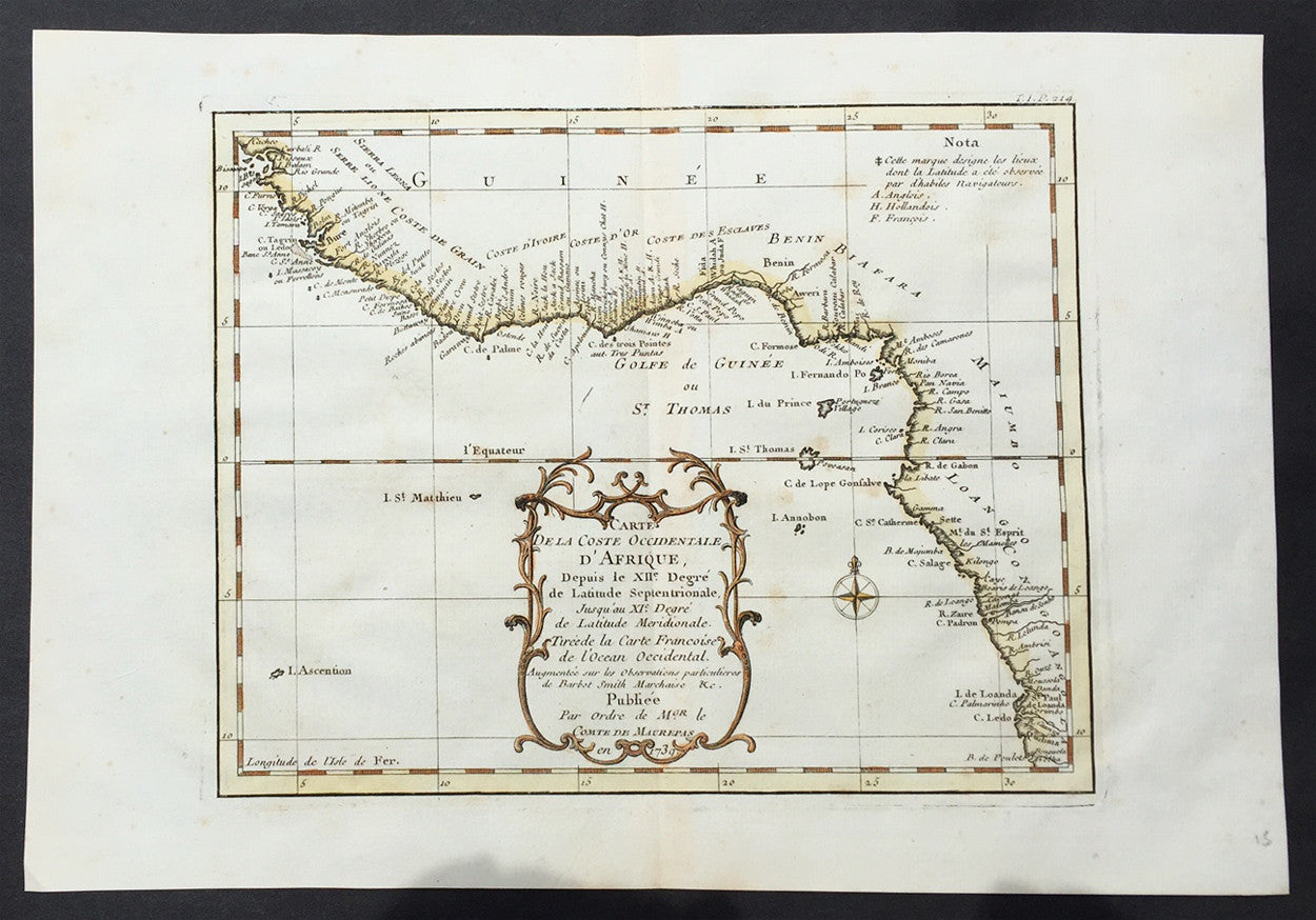 1739 bellin antique map of west africa senegal to cameroon 1739 bellin antique map of west africa senegal to cameroon ccuart Image collections