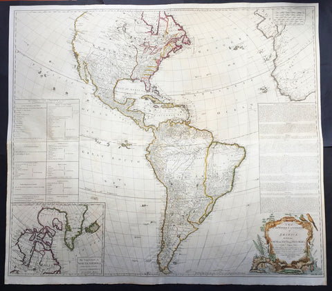 1772 Gibson & Sayer Large Antique Map of America