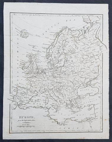 1797 John Cary Original Antique Map of Europe