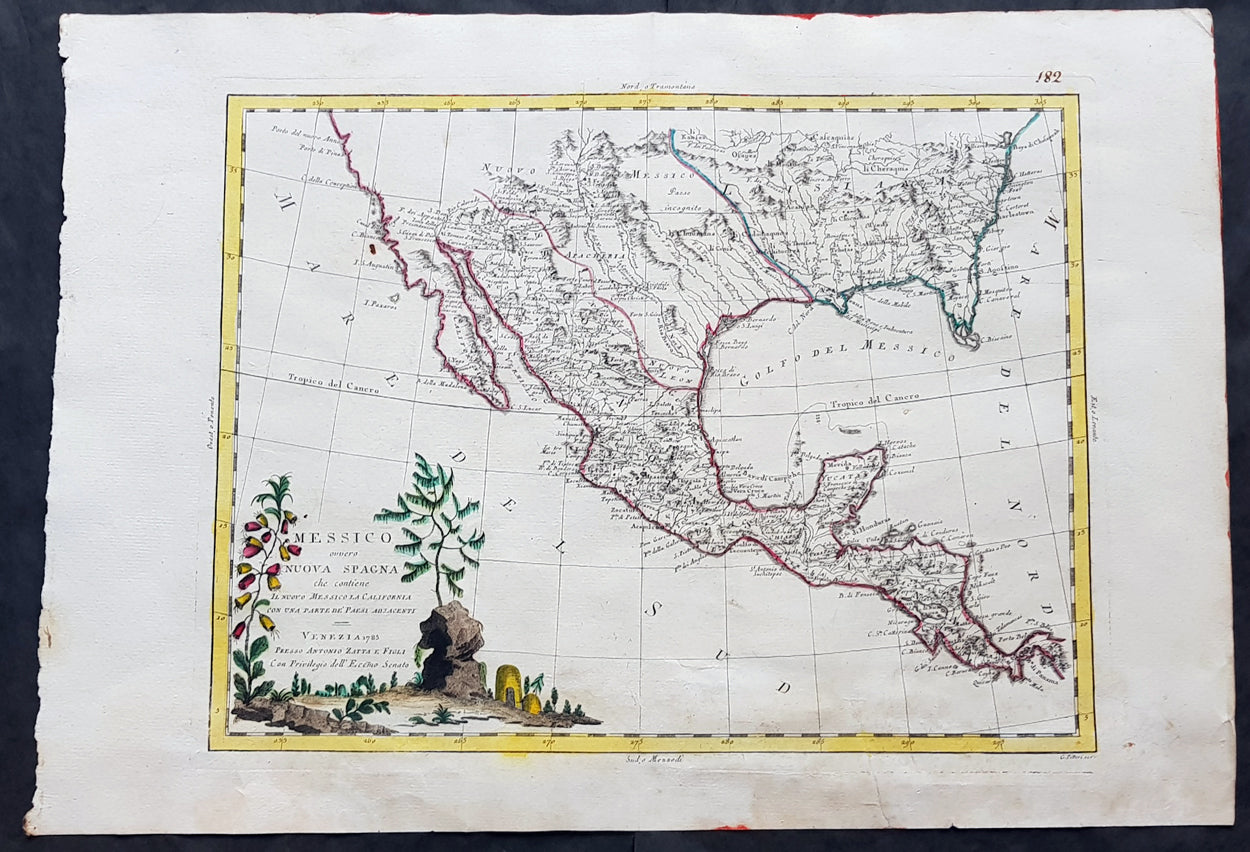 1785 Antonio Zatta Large Antique Map of Mexico, Texas, California, on religion maps of texas, antique nevada map, railroad map in texas, rare maps of texas, decorative maps of texas, antique alaska map, ancient maps of texas, antiques in texas, blue maps of texas, on a map of ja ranch texas, historical maps of san antonio texas, large print road maps texas, antique show round top texas, antique show round top map, rustic maps of texas, charts of texas, agriculture maps of texas, vintage texas, printable maps north texas,