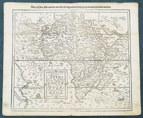 1588 Sebastian Munster Antique Map of Continental Africa