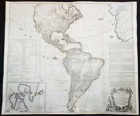 1772 Gibson & Sayer Large Antique Map of America - French Indian War Treaty of Paris