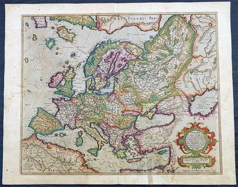 1613 Gerard Mercator Large Antique Map of Europe - Europa ad Magnae
