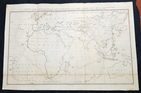 1796 Barrow Large Antique Map Sea Chart Lord Macartneys Voyage England to China