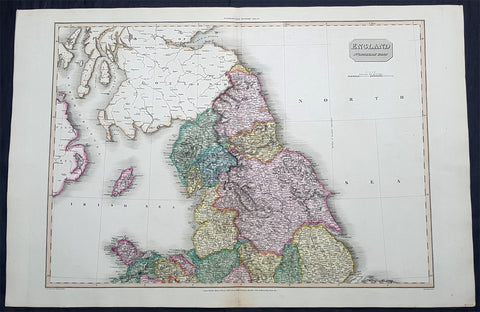 1811 John Pinkerton Very Large Antique Map of The North of England - Beautiful