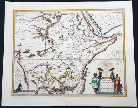 1646 Joan Blaeu Antique Map of Central and NE Africa - Land of Prestor John