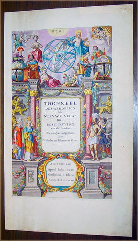 1659 Blaeu Antique Atlas Title Page