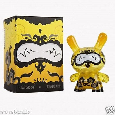 "Kidrobot Dunny Lemon Drop 3"" Andrew Bell SEALED NEW 2014 Vinyl Plastic Toy Fig"